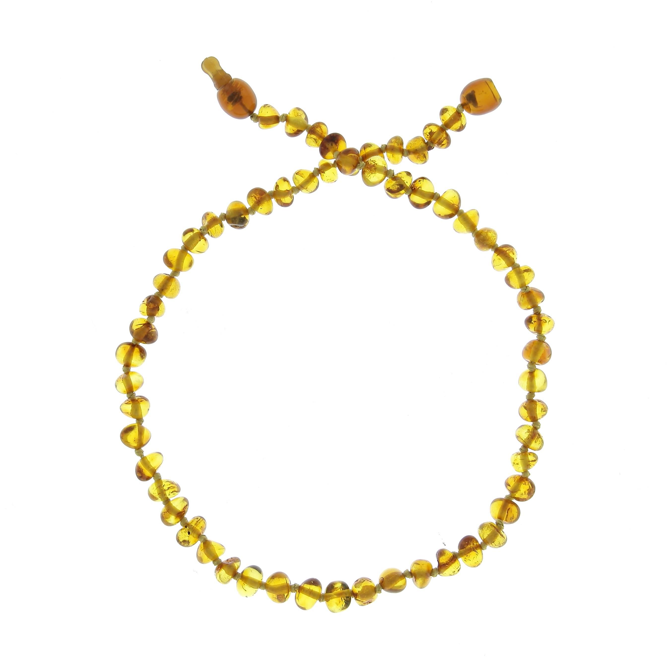 5db8b7228a0 Collier d ambre enfant - Clip - Miel - Baltic Way